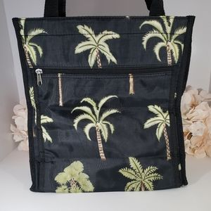 Black Palm Trees Canvas Tote Bag